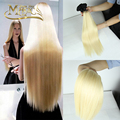 613 Platinum Blonde Dark Roots Indian Hair Straight 3 Pcs 1B/613 Dark Root Ash Light Blonde Ombre Human Remy Hair Extension