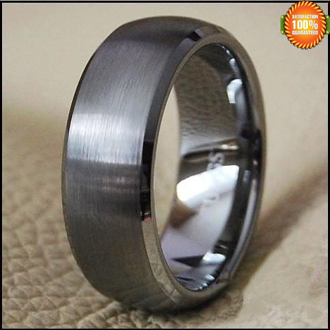 aliexpresscom buy wedding band ring tungsten mens jewelry titanium color brushed center from reliable jewelry ring suppliers on ec super fashion jewelry