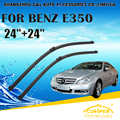 "Wiper Blades Para MERCEDES BENZS E350 (Todos Os anos) 2006 Car Windscreen Windshield Wiper Blade 24 ""+ 24"" carros styling acessórios"