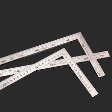 цена на 500mm*250mm Rectangular Device Stainless Steel protractor Angle Square 90 Degree Woodworking measurement Tool