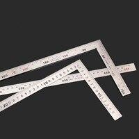 500mm * 250mm Rettangolare In Acciaio Inox Dispositivo goniometro Angolo Piazza 90 Gradi Lavorazione Del Legno Strumento di misura