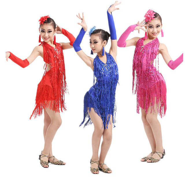 d21ab163b Girl Latin Dance Dresses For Tassel style Cha Cha/Rumba/Samba/Ballroom/Tango  Dance Clothing Adult Dance Costume Salsa Dancewear
