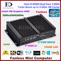 2016 fanless pc desktop Intel Core i5 4200U dual Core mini pc Intel HD Graphics 4400 COM 2 COM rs232, Usb3.0, Wi fi, Hdmi, Vga