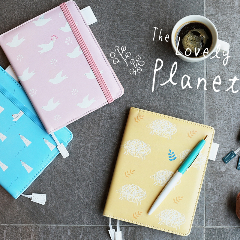 Lovely Japan floral fashion DIY A6 journal PU leather 120 sheets 2017 students office supplies free shipping комплект аксессуаров для волос lovely floral