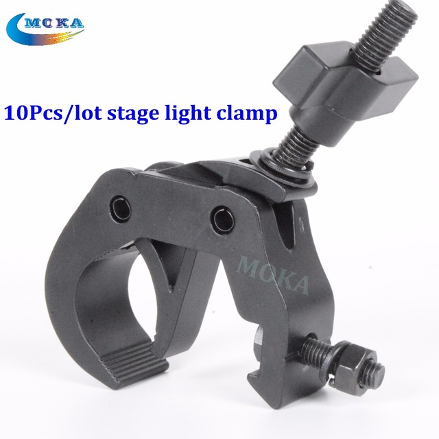 10Pcs Lot Black Cost Aluminium Stage Lighting Clamps Fixing Truss Fastener Dj Club Hanging