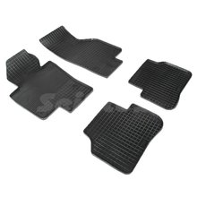 Резиновые коврики для Volkswagen Passat B6 (2005-2010) с рисунком Сетка (Seintex 00388)