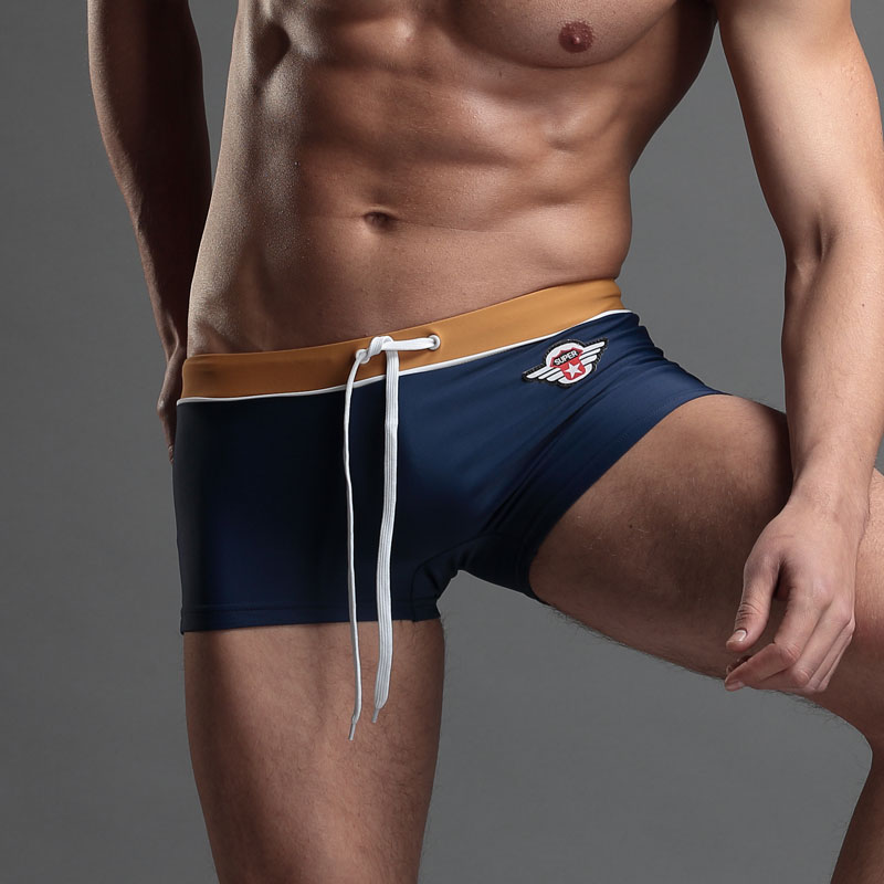 Clearance Beach Swimming Trunks Men's Boxers Shorts Men Swim Swimwear With Pocket Trunks Sexy  Springs Sports Suit Men Swimsuit