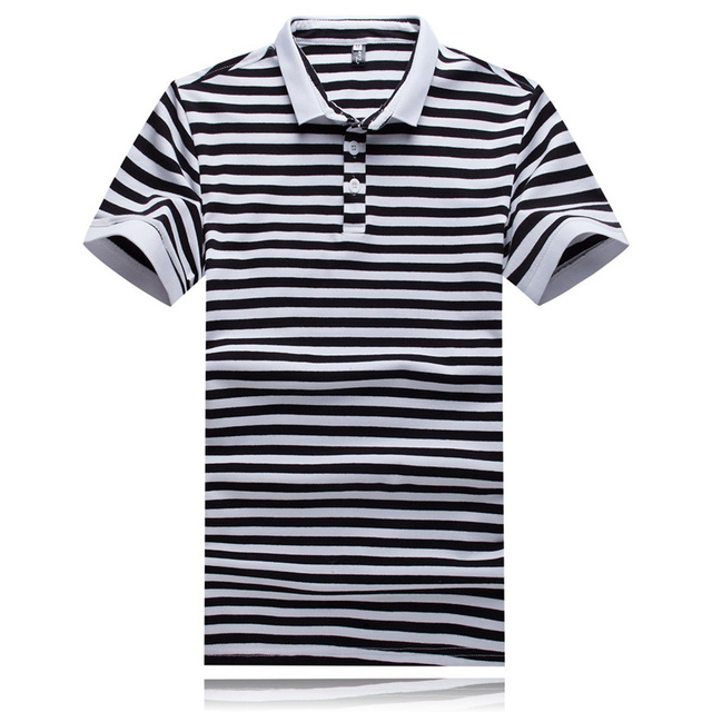 Striped Polo Shirt Men Brand Polo Shirt Casual Turn Down Collar Men Polo Shirt Summer Short Sleeve Breathable Polo Homme Marque