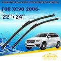"""Lâminas de limpador Para VOLVO XC90 (2004-) 2005 2006 2007 2008 2009 2010 Carro Brisas Limpador Limpador de Parabrisa Blade 24 """"+ 22"""" Carros estilo"""