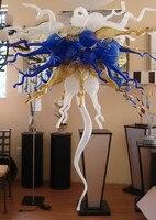 מודרני יוקרה צבעוני פרח צורת צ 'יהולי סגנון נברשת זכוכית מנופחת ביד חומר בית אמנות קישוט תאורה