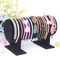 Fashion New 1 Pcs/lot Black Suede Bracelet Earring Watch Head Hoop Band Jewelry Pendants Frame Stand Display Showcase Rack