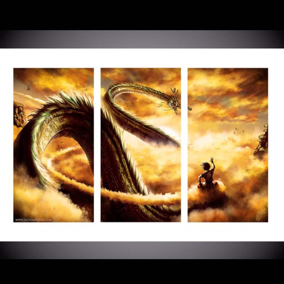 Online Shop 3 Pcs/Set Framed HD Printed Dragon Ball Z Wall Art ...