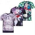 Suicide Squad 3D Print Cosplay Costume  Mens Harley Quinn Joker 3D T Shirt  cs25141