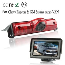 With 4.3″ Monitor Sony CCD Car Reverse Rear View Brake Light Camera for Chevrolet Express GMC Savana