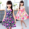 Summer Dresses For Girls A Line Print Floral Girls Dresses O Neck Bohemian Kids Clothes For