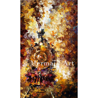 Hand Painted Train Of Happiness Oil Painting On Canvas For Abstract Thick Palette Knife Painting Living Room Decor Artwork Fine
