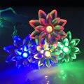 2 M 20 LEDs LED da bateria de corda luzes casamento / natal / decoração de casa lâmpadas de lótus de operação da bateria pisca pisca de fadas iluminação