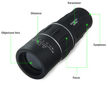 Outdoor 16×52 Hunting Optics Monocular Dual For Focus Zoom Optic Lens Day Night Vision Travel Telescope Tourism Scope Binoculars
