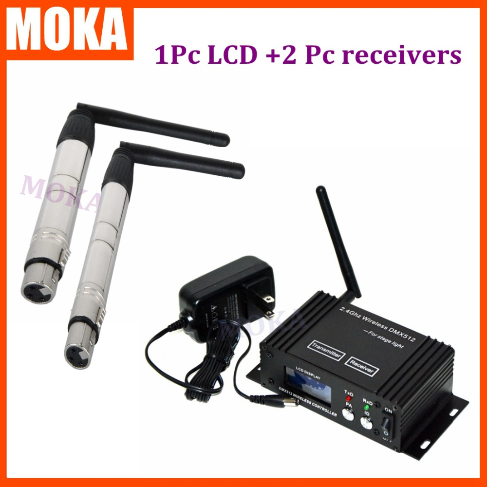 3 pcs/lot dmx 512 channels controller Wireless DMX 512 Controller Receiver +Transmitter/sender  Communication Distance 400m