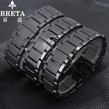 Men s quartz watch 22mm24mm black strap ceramic strap for Arma AR1451 AR1452 watch waterproof watchband