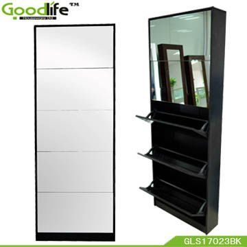Merveilleux Wood Fashion Modern Shoe Cabinet With Mirror In Shoe Cabinets From  Furniture On Aliexpress.com | Alibaba Group