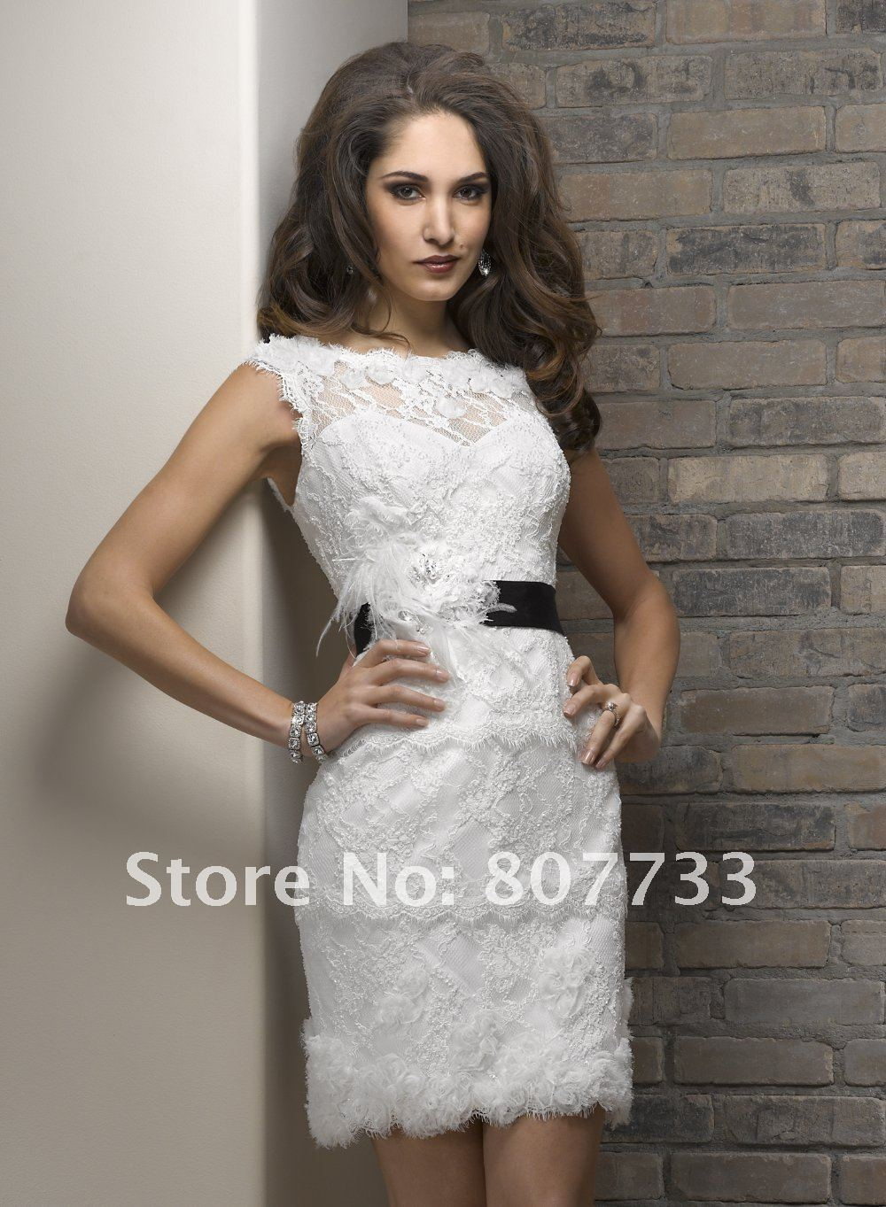 f84844143a5b1 Free Shipping!!!Gorgeous lace fabric elegant cap sleeves open back sexy  short wedding dresses