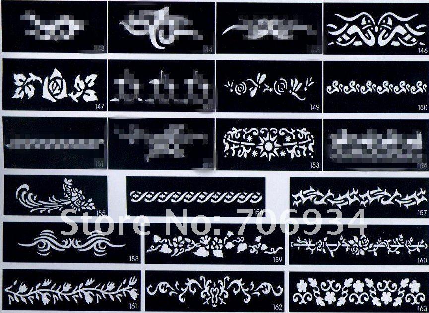 50 шт./лот татуировки шаблон Трафареты тату для Средства ухода за кожей Книги по искусству живопись татуировка Pictures Водонепроницаемый Mix большой Размеры