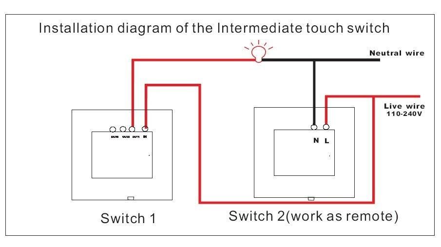 UK Standard 1Key Intermediate Switch (Black Color) 100% Good quality ...