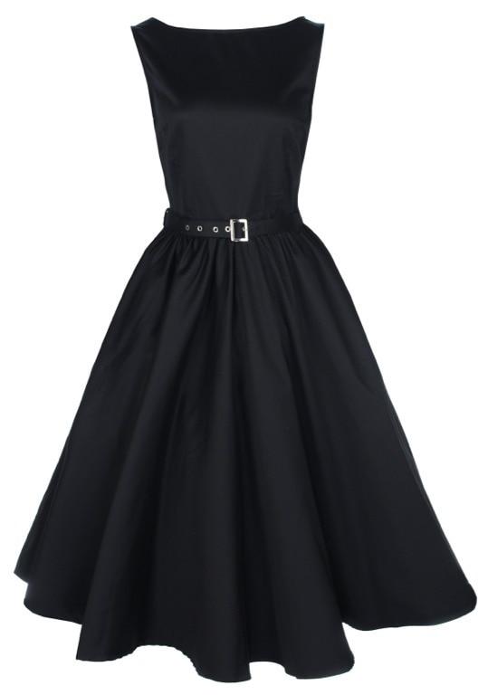 Womens Vintage Jive 50s High Waist Rockabilly Swing Skirt Party Prom Retro Dress