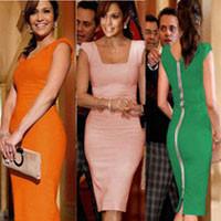 горячие продажа осень зима женщины Blur знаменитости новинка quadrant стоит полный рукавом контрастность veto принт растягивание цвета платья