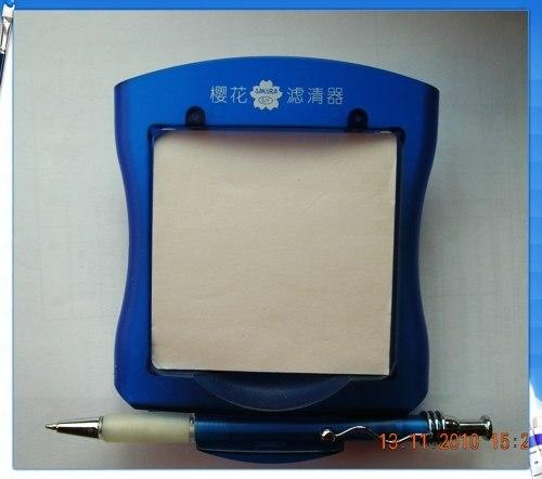 Блокнот и ручка, набор для душа с держателем, нанесение логотипов возможно, синий, 100 компл./лот в комплекте