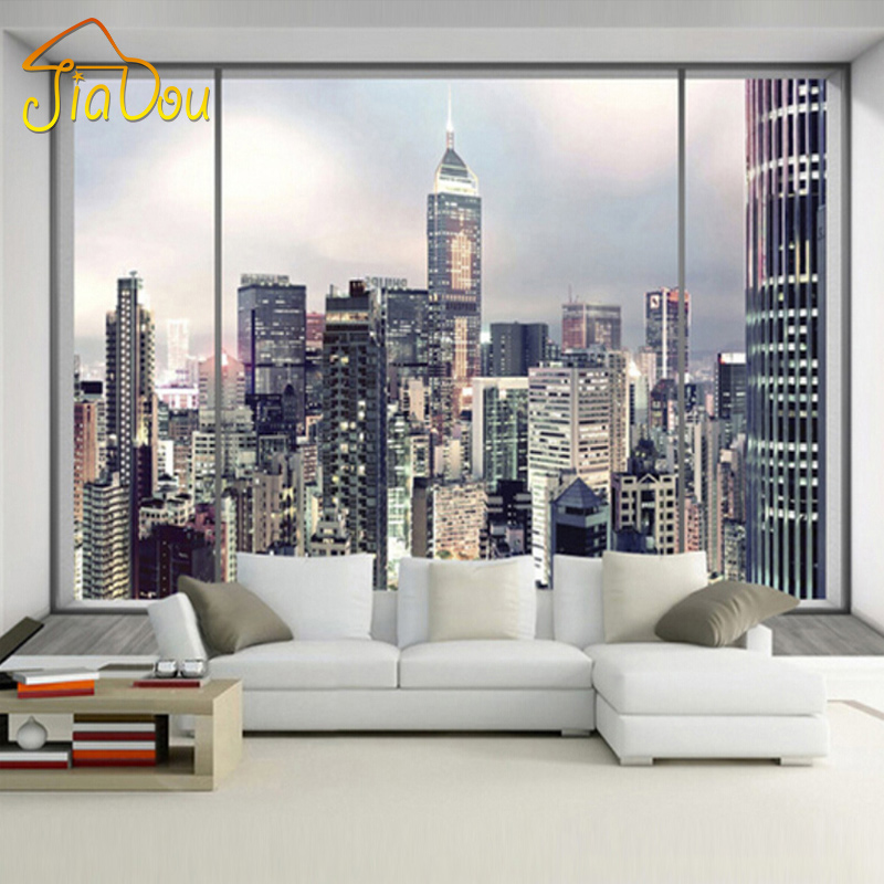 wallpaper new york sunrise large wall mural bedroom interior art decor. Black Bedroom Furniture Sets. Home Design Ideas