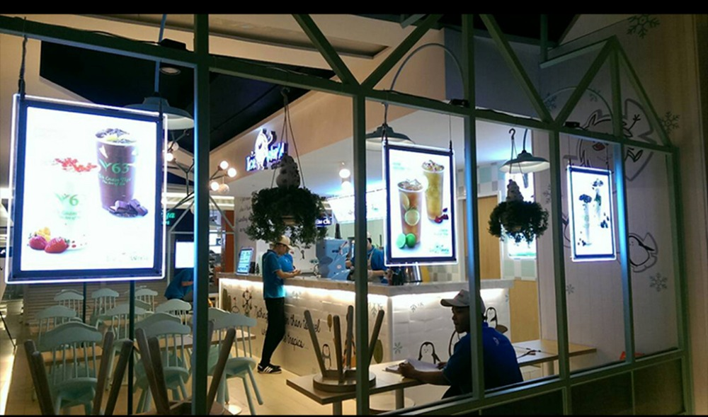 Crystal Frame Slim Restaurant Shop Window Front Hanging