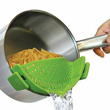 Olla Coladores de silicona Hornear Masa Deflector Anti-derrame de Líquido Embudo Drenaje Pans Herramienta de Cocina Para Cocinar
