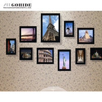 FREE SHIPPING Solid Wood Photos Wall Photo Wall Photo Frame Combination With 11pcs Box Photo Frame
