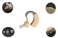 бесплатная доставка усилитель звука ухо слуховой аппарат машина низкий уровень шума легкая деятельность слуховой аппарат уха усилитель батареи сг13 ДХ-113