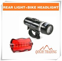 водонепроницаемый из светодиодов велосипед головного света + фонарик 6059