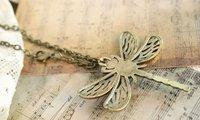 минимальный. заказ 10 $ ювелирные изделия, винтаж стрекоза кулон ожерелье e0174229 г15