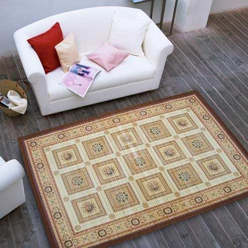 Painted Bamboo Floor Mat Area Rug Home Office Decor