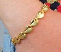Fashion Women Magnetic Therapy Jewelry Health Bracelet 316L Stainless Steel Gold Magnetic Snake Bracelet Femme Locking Bracelet