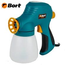 Распылитель электрический Bort BFP-60N (регулировка подачи краски, легкосъёмный бачок)
