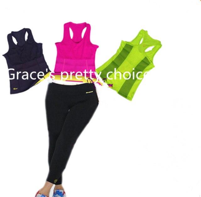 Las mujeres Que Adelgaza Juegos de Bragas Shapers Caliente Larga y Colorida Sudor Chalecos Body Mujeres Corsés de Cintura de Neopreno Pantalones