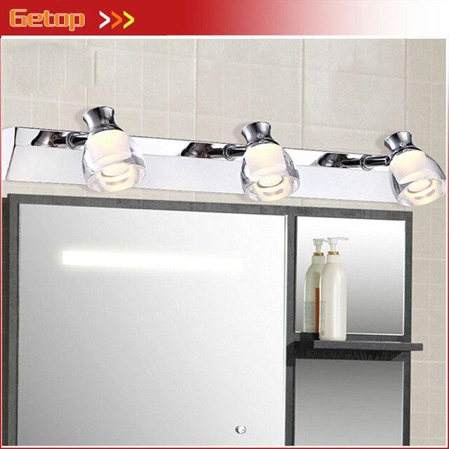 US $49.89 |Moderne Acryl LED Chip Spiegel Wand Lampe Wasserdicht Anti fog  Schrank Drehbare Licht Schrank Wc Dressing Wohnzimmer Machen bis Lampe in  ...