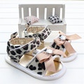Baby Girl Shoes Summer Fashion Diamond Bowknot Leopard Print Leather Toddler Infant Girls Sandals Sandalia Infantil Menina 2016