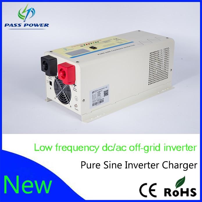 Смарт Низкая частота чистая синусоида Мощность инвертор 12vdc к 220vac 1000 Вт с Батарея Зарядное устройство