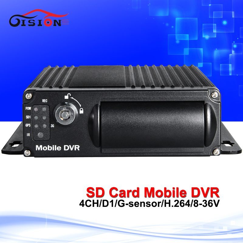 Free shipping 4ch h.264 sd mobile dvr cycle recording car/bus dvr 128g mobile digital video recorder