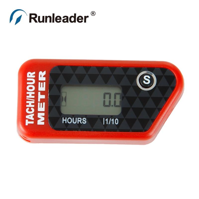 Runleader Digital Gas Engine Hour Meter Tachometer For 2 4 Stroke Boat Generator Jet Ski Marine pit bike motorcycle Snowmobile