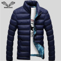 Winter  Mens 2016 New Brand Stylish Slim Fitness Quilted Long Sleeve Cotton-Padded Solid Thick  N439