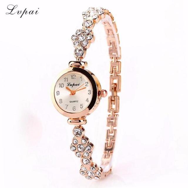 Lvpai Women Top Brand fashion Wristwatch Gold Silver Belt Bracelet Watch Ladies