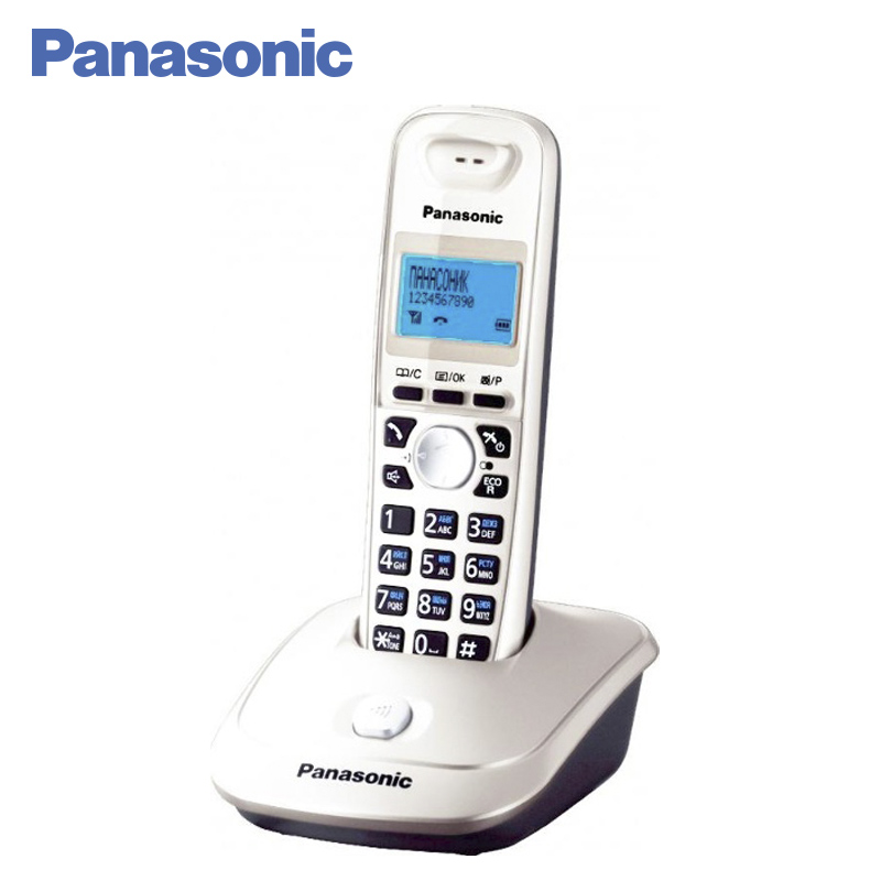 Panasonic KX-TG2511RUW DECT phone, digital cordless telephone, wireless phone System Home Telephone. panasonic kx tg2512ru1 dect phone 2 handset digital cordless telephone wireless phone system home telephone